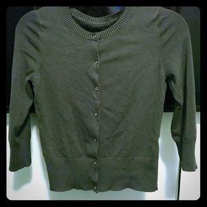 Express gray gem button cardigan